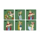 Set of 6 Asterix and Obelix SD Toys Legionary coasters 27861 (2017)