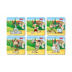Set of 6 Asterix and Obelix SD Toys Olympic Games coasters 27847 (2017)