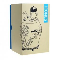 Figurine de collection Moulinsart Tintin et Milou dans la potiche 46401 (2017)