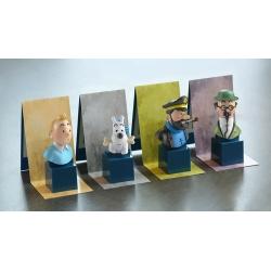 Collectible set of 8 mini Tintin busts Moulinsart PVC 7,5cm (2017)