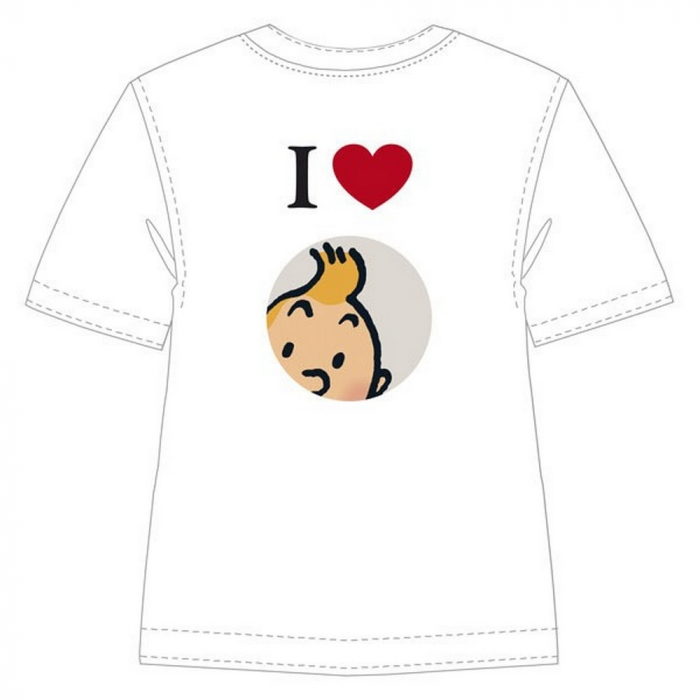 Camiseta 100% algodón Tintín I Love Tintin 852001 (2010)