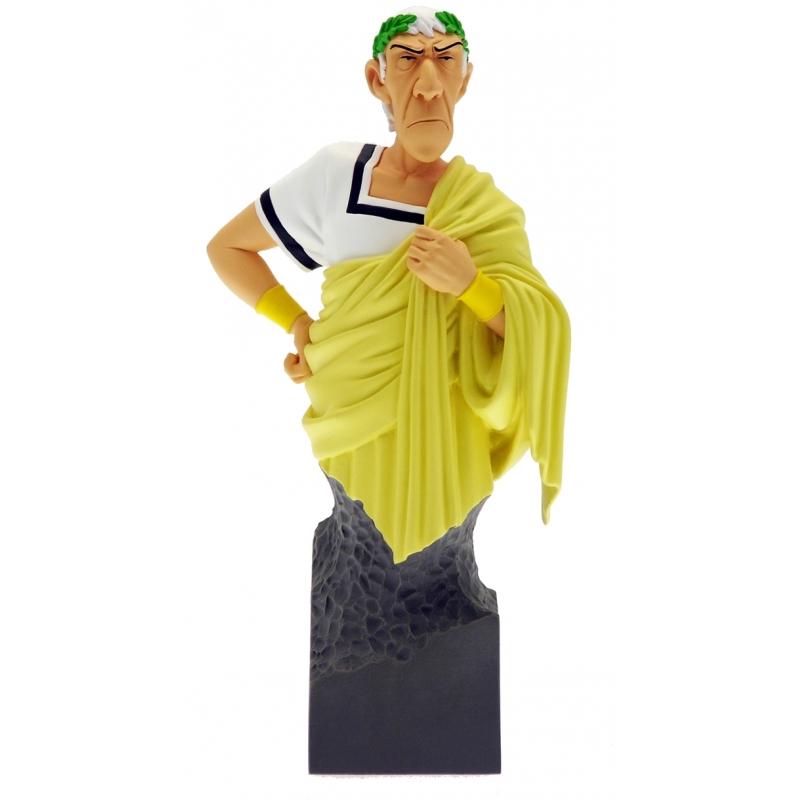 Figura de colecci  n  el busto de c  sar toga amarilla attakus petibonum (as006)