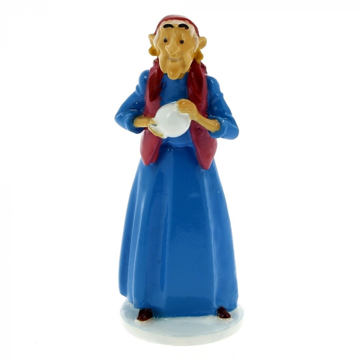 Collectible figure Tintin The Gypsy Woman Carte de voeux 1972 (46504)