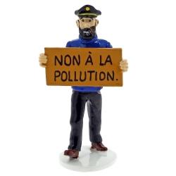 Figura de Tintín Haddock Non à la pollution Carte de voeux 1972 (46990)