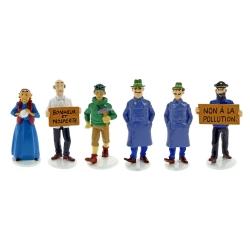 Set de figuras de Tintín Moulinsart Serie 6 Carte de voeux 1972 (2018)