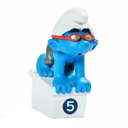 Figurine Schleich® - Le Schtroumpf nageur Equipe Olympique Belge 2012 (40266)