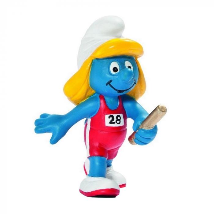 Figurine Schleich® La Schtroumpf relayeuse Equipe Olympique Belge 2012 (40268)