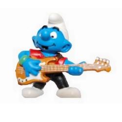 Figurine Schleich® Les Schtroumpfs - Le Schtroumpf Bassiste (20450)