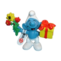 The Smurfs Schleich® Figure - The Smurf with Flower and Gift (20040)