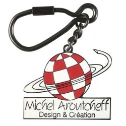 Porte-clés métal Logo Michel Aroutcheff Figures et Vous (Design et Création)