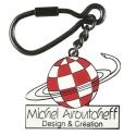 Collectible Keychain Logo Michel Aroutcheff Figures et Vous (Design et Création)