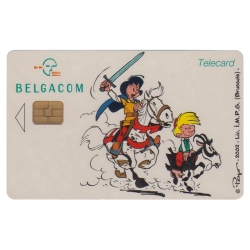 Collectible Phone Card Belgacom Johan and Peewit (2002)