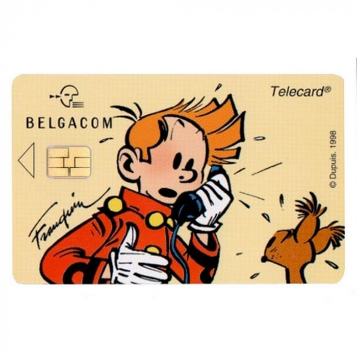 Tarjeta telefónica de colección Belgacom Spirou (1998)