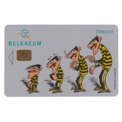 Tarjeta telefónica de colección Belgacom Lucky Luke Los Daltons (2001)