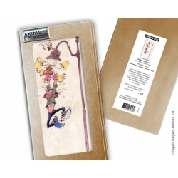 Collectible marble sign Gaston Lagaffe hanging on the lamppost (10x20cm)