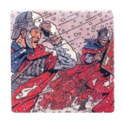 Placa de mármol de colección Alix Las Legiones perdidas Nº42 (10x10cm)