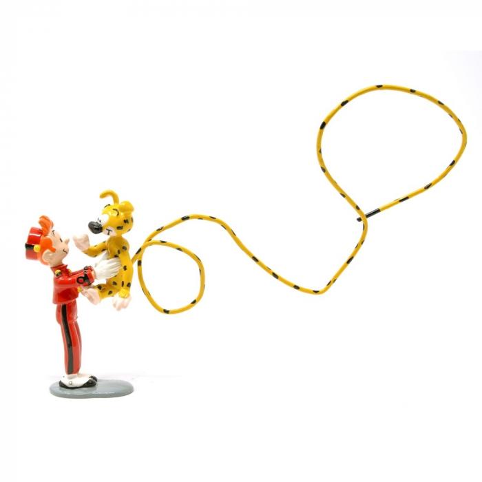 Figura de colección Pixi Spirou llevando el Marsupilami en sus brazos (2003)