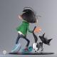 Collectible figure Fariboles Gaston Lagaffe with his cat GSTLC001 (2018)