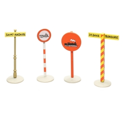 Set de señales varias en miniatura colección En Voiture, Tintín 59030 (2012)