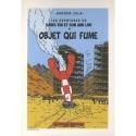 Ex-libris Offset Tribute to Tintin Gordon Zola Objet qui fume (14,5x21cm)