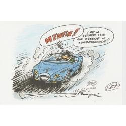 Ex-libris Offset Hommage à Franquin Gaston Lagaffe, Altron (21x14,5cm)
