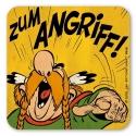 Asterix and Obelix Logoshirt® Coaster 10x10cm (Zum Angriff!)