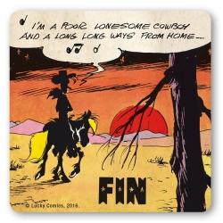Lucky Luke Logoshirt® Coaster 10x10cm (I'm a Poor Lonesome Cowboy)