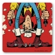 Posavaso Logoshirt® Lucky Luke 10x10cm (Disparos al revés)