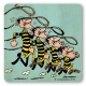Lucky Luke Logoshirt® Coaster 10x10cm (The Daltons Getting Caught Again)