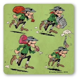Lucky Luke Logoshirt® Coaster 10x10cm (The Daltons Robbery)