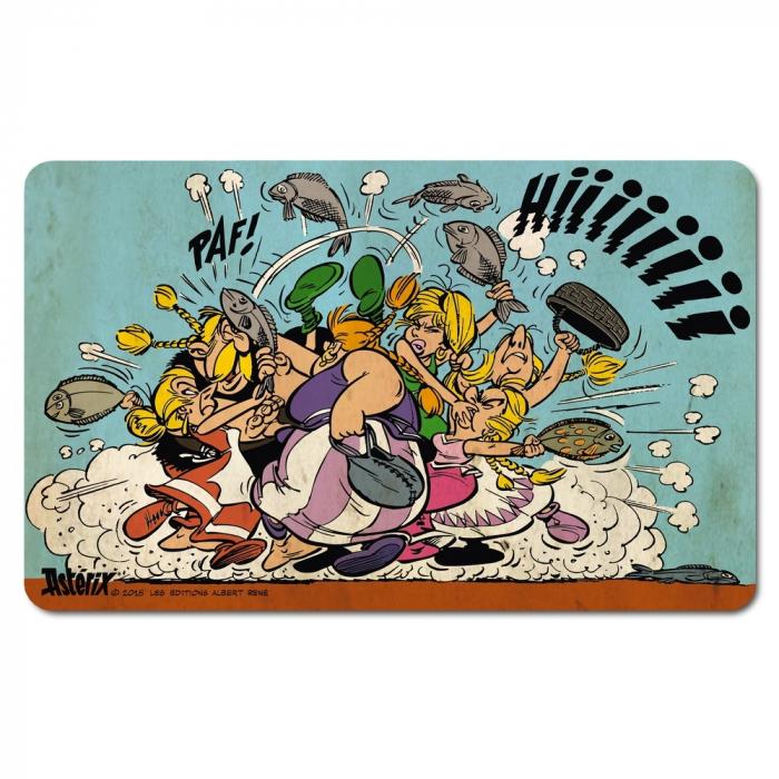 Tabla de desayuno Logoshirt® Astérix y Obélix 23x14cm (Pelea de peces)