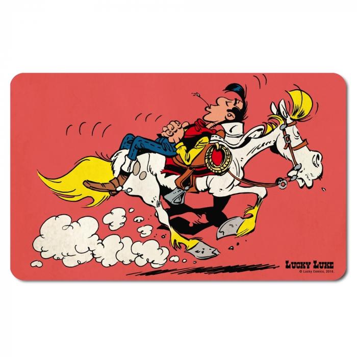 Tabla de desayuno Logoshirt® Lucky Luke 23x14cm (Montando a Jolly Jumper)