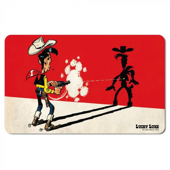 Tabla de desayuno Logoshirt® Lucky Luke 23x14cm (Más rápido que su sombra)