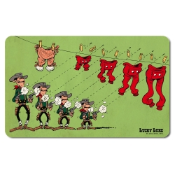 Breakfast Cutting Board Logoshirt® Lucky Luke 23x14cm (The Daltons, underpants)