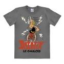 Camiseta 100% algodón Logoshirt® Astérix bebiendo la poción mágica (Gris)