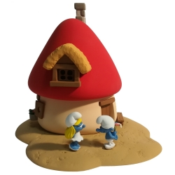 Smurfette House Fariboles with two figurines The Smurfs  MA1 (2018)