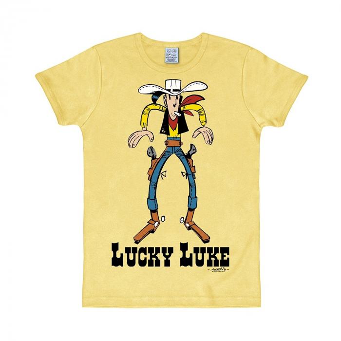 T-shirt 100% coton Logoshirt® Lucky Luke Cowboy (Jaune)