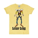 T-shirt 100% cotton Logoshirt® Slim Fit Lucky Luke Cowboy (Yellow)