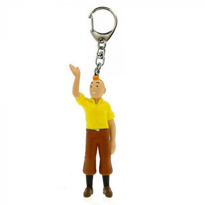 Porte-clés figurine Tintin saluant la foule 6cm Moulinsart 42434 (2011)