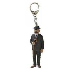 Porte-clés figurine Tintin Dupont avec sa canne 6cm Moulinsart 42448 (2010)