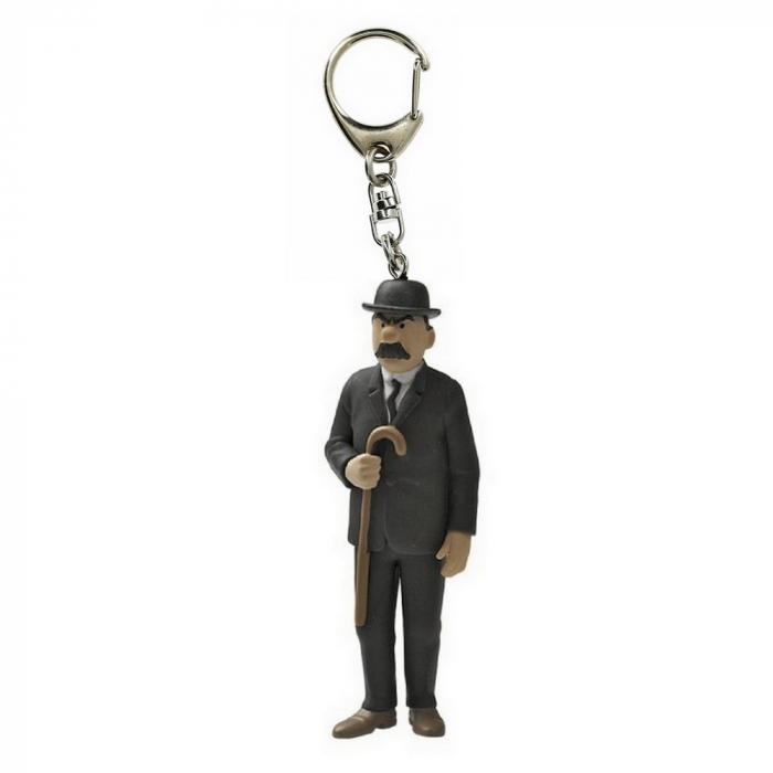 Keyring chain figurine Thomson  with his cane 6cm Moulinsart 42448 (2010)