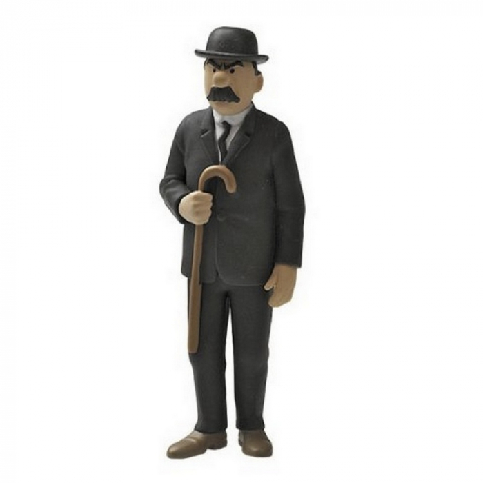 Figurine de collection Tintin Dupont avec sa canne 9cm Moulinsart 42445 (2015)