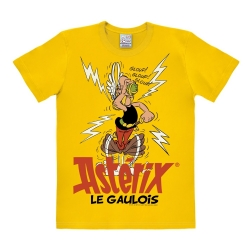 T-shirt 100% cotton Logoshirt® Asterix drinking the magic potion (Yellow)