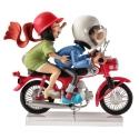 Figurine Gaston Lagaffe et Mlle Jeanne en moto Figures et Vous GF14 (2018)