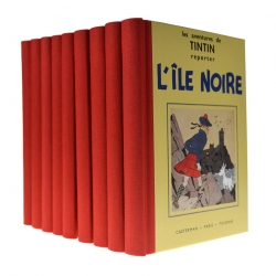 Box of 9 albums of the adventures of Tintin in Black and White, Casterman (2012)