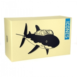 Collectible figure Moulinsart Tintin and Snowy in the Submarine Shark (2018)
