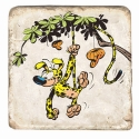 Collectible marble sign Marsupilami Houba Houba ! (20x20cm)