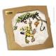 Placa de mármol de colección Marsupilami Houba Houba ! (20x20cm)