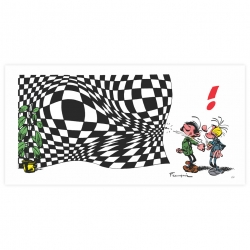 Estampe pigmentaire LPR Editions Gaston Lagaffe Vasarely (50x100cm)