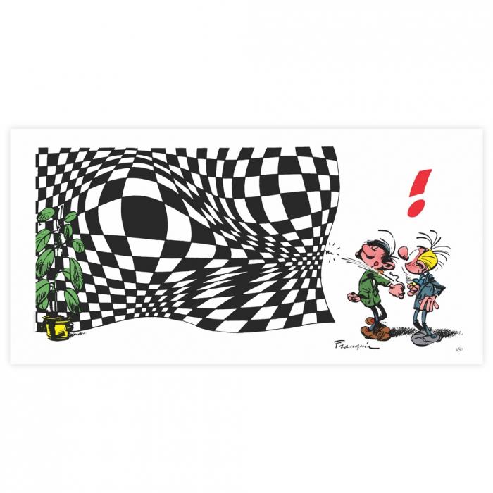 Estampa de pigmento LPR Editions Tomás el Gafe Vasarely (50x100cm)